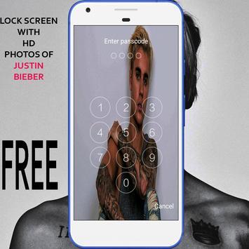 Lock Screen For Justin bieber screenshot 1