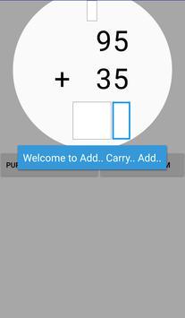 Just Math - Add Carry Add DEMO apk screenshot