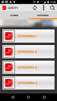 JUSU TV PLAYER ONLINE apk screenshot