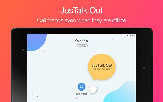 JusTalk - free video calls and fun video chat app apk screenshot