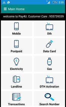 PAY4U - Recharge, Bill Payment screenshot 3