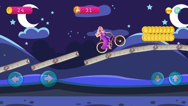 Hill Biker Climbing for Barbie apk screenshot