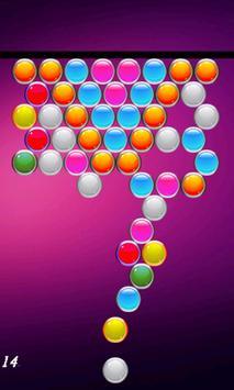 Shoot colorful bubbles poster