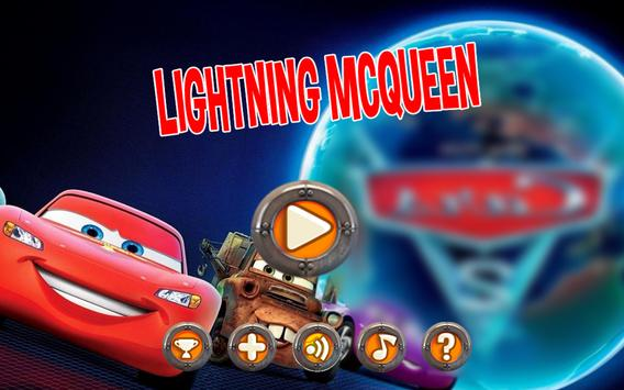 Adventure Car Games Lightning McQueen The Treck poster