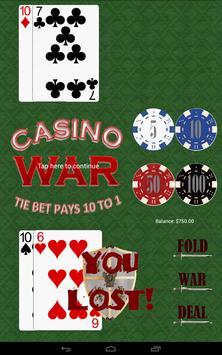Casino War apk screenshot