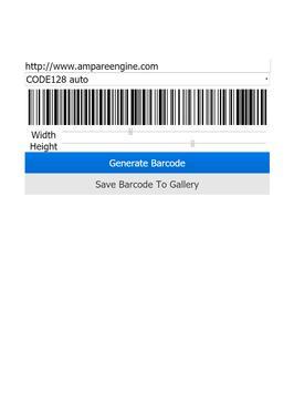 Ampare Barcode Creator Free apk screenshot