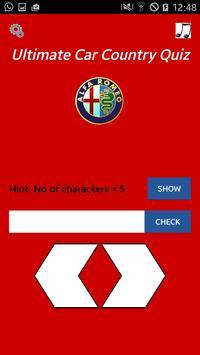 Ultimate Car Country Quiz screenshot 2