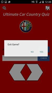 Ultimate Car Country Quiz screenshot 4