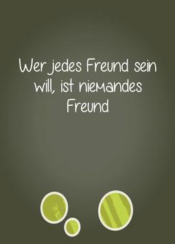 Friendship quotes in German apk screenshot