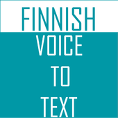 Finnish Voice To Text Converter icon