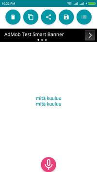Finnish Voice To Text Converter screenshot 2