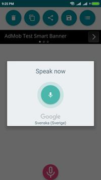 Swedish Voice To Text Converter screenshot 1