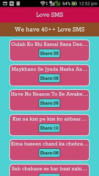 Love SMS apk screenshot