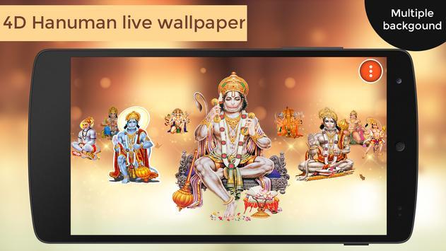 4D Hanuman Live Wallpaper poster