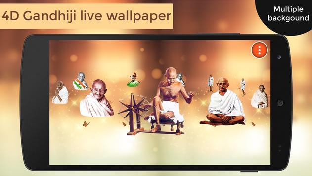 4D Gandhiji Live Wallpaper poster