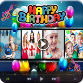 Birthday Photo to Video Maker icon