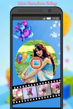 Birthday Photo to Video Maker screenshot 3
