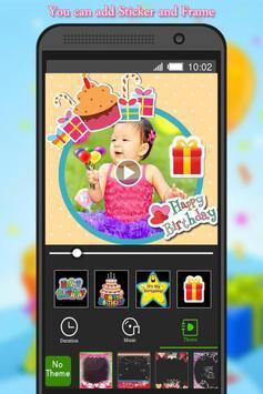 Birthday Photo to Video Maker screenshot 1
