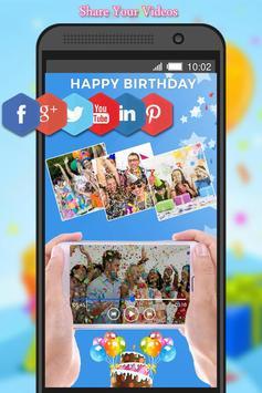 Birthday Photo to Video Maker screenshot 4