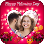 Valentine Day Photo Frame 2018 icon