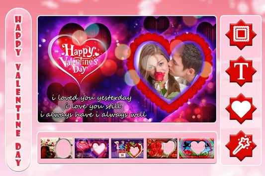 Valentine Day Photo Frame 2018 poster
