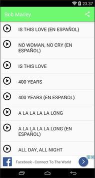 Bob Marley Songs&Lyrics screenshot 2
