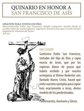 Novena al Santo Francisco poster