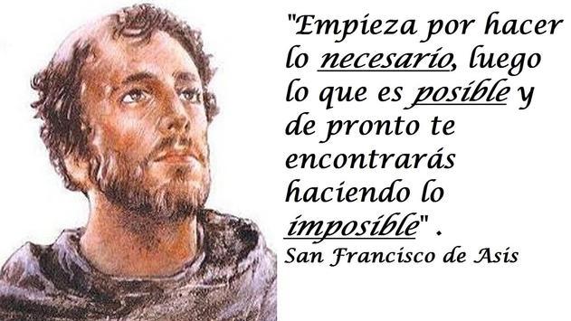 Novena al Santo Francisco de Asis poster