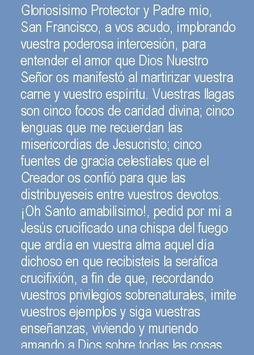 Novena al Santo Francisco de Asis apk screenshot