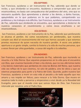 Novena a Santo Francisco apk screenshot