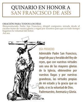 Oraciones a Santo Francisco poster