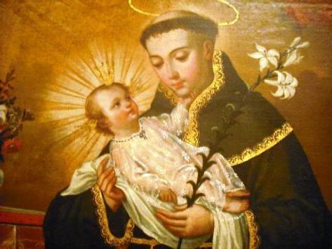 San Antonio de Lisboa y Jesus poster