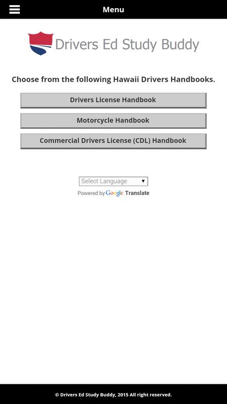 hawaii drivers permit test study guide
