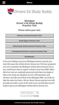 Michigan Driver License Test apk screenshot