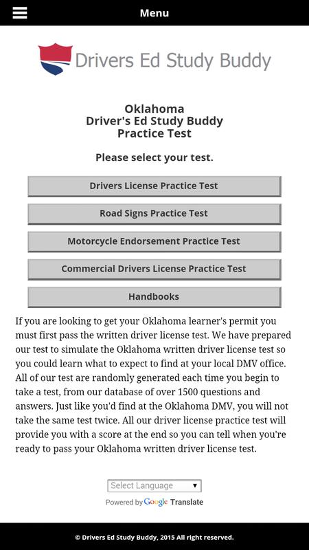 documents needed to take drivers test in oklahoma
