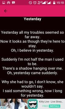 The Beatles Song Lyric apk screenshot