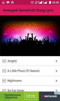 Avenged Sevenfold Song Lyric apk screenshot