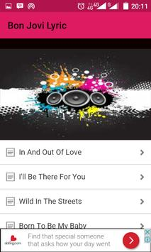 Bonjovi Song Lyric apk screenshot