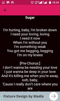 Maroon 5 Song Lyric apk screenshot