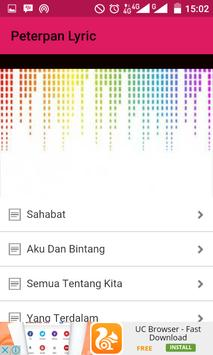 Peterpan Song Lyric apk screenshot