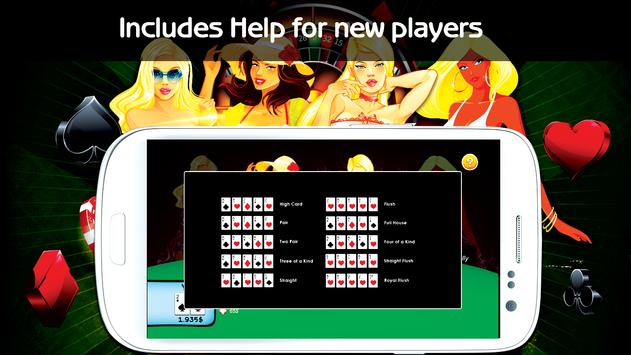 Hot Girls Poker, Free Offline apk screenshot