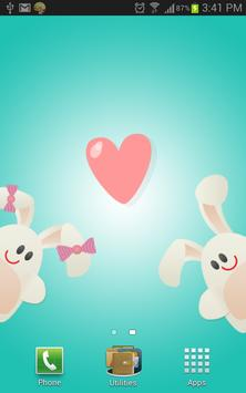 Cute Lovers Live Wallpaper apk screenshot