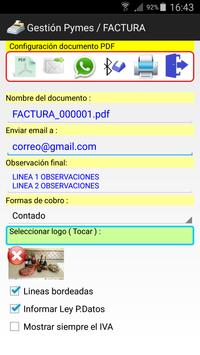 Albaranes Gestión Facturas apk screenshot