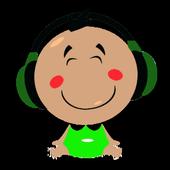 Happy kids icon