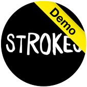 Strokes in White - IconPack icon