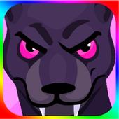 adventure jaguar jungle icon