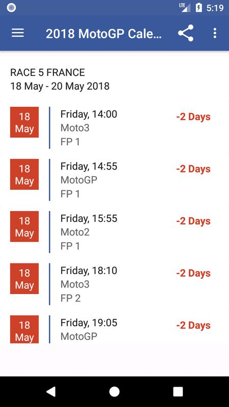 2018 MotoGP Calendar Result APK Download - Free Sports APP for Android | APKPure.com