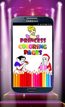 Princess Coloring Pages poster