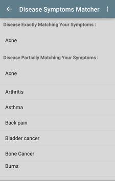 Disease Symptoms Matcher poster