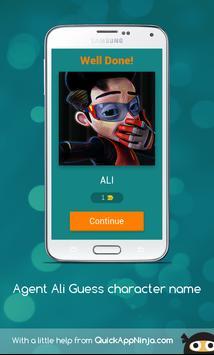 Agent Ali Guess Character Name screenshot 1